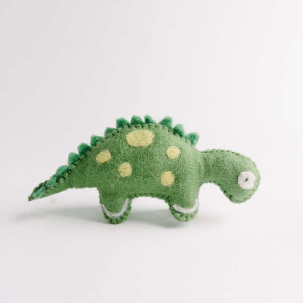 Felted Green Dinosaur
