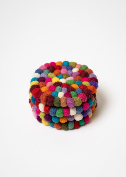 Felt Colorful Round Coasters