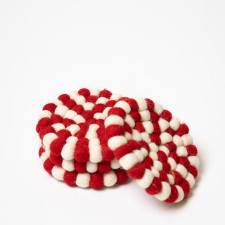 Red And White Coasters