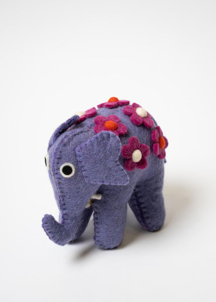 Purple Felt Elephant