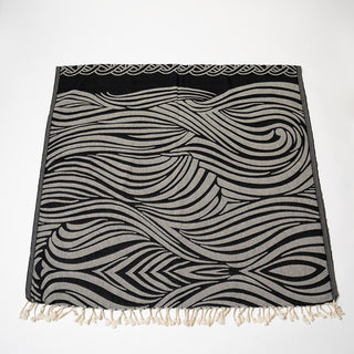 Black Wave Turkish Towel