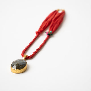 Turkish Red Silk Necklace