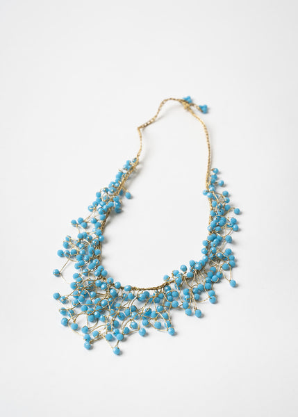 Blue Waterfall Necklace