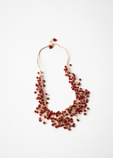 Red Waterfall Necklace