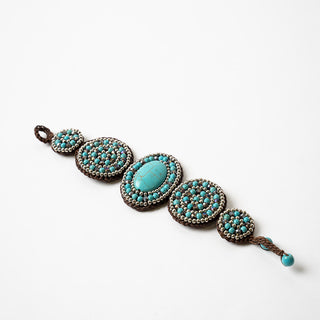 Turquoise Five Medallion Bracelet
