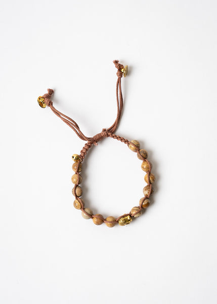 Brown Beaded Buddha Bracelet