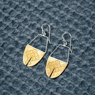 925 Plated Imprint Earrings