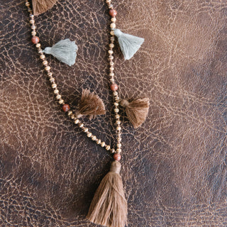 Eleven Tassel Necklace