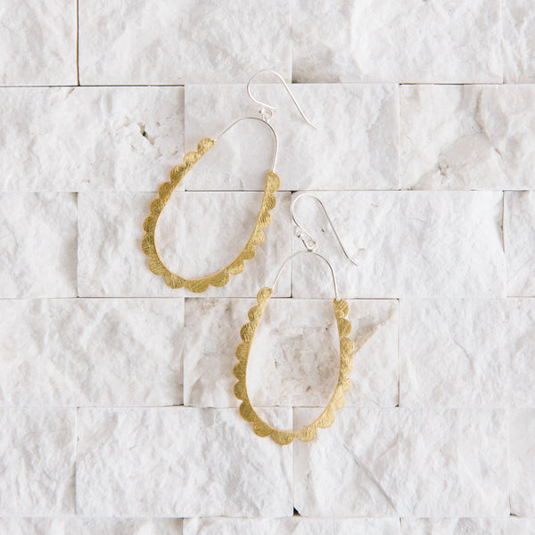Silver And Gold Oval Earrings
