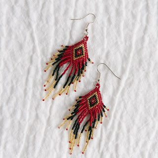 Red Aztec Earrings