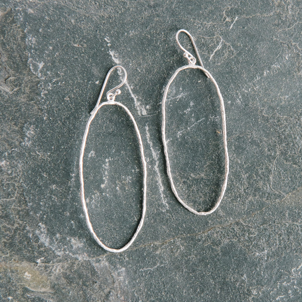 925 Silver Oval Earrings
