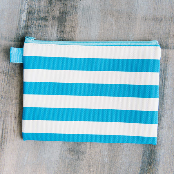 Blue And White Stripe Bag