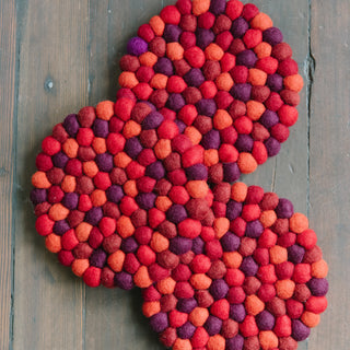 Multicolor Red Trivet