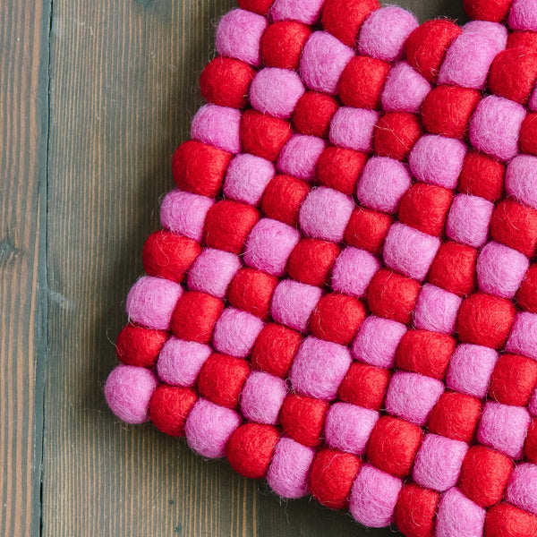 Pink And Red Trivet