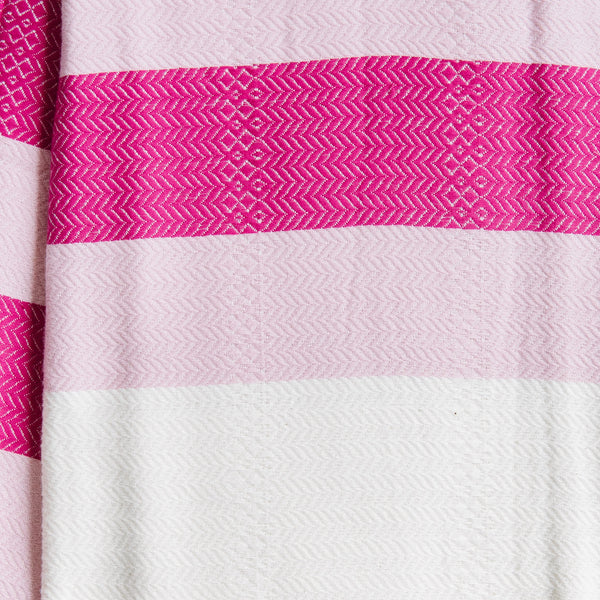 Pink And White Turkish Towel