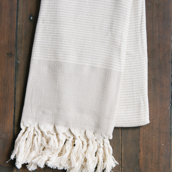 Beige Diamond Turkish Towel