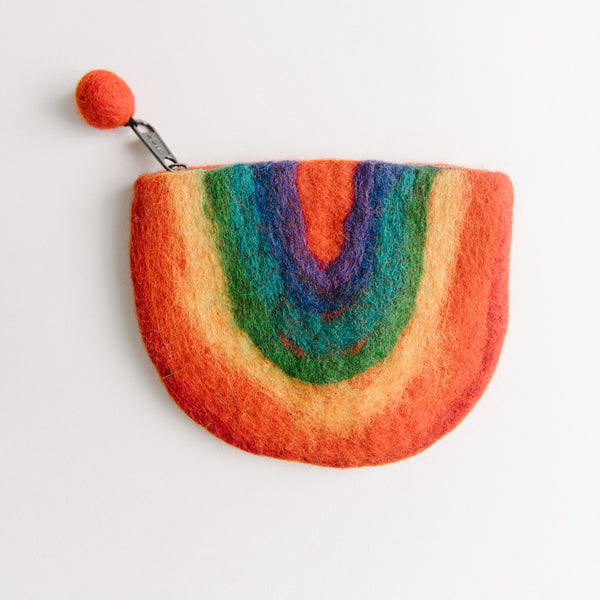 Felted Rainbow Wallet