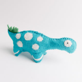 Felted Blue Dinosaur
