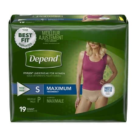 Depend Underwear Fit Flex (Pullups) for Women, Maximum
