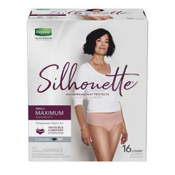 Depend Silhouettes Underwear for Women, Maximum