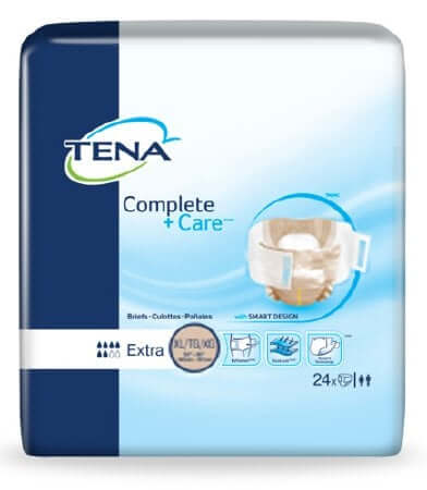 Tena Complete Plus Care Adult Diapers, X-Large, 72 per case, Shipping Included