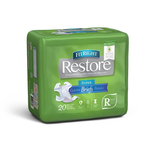 Medline FitRight Restore Super Adult Diapers