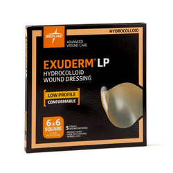 Exuderm LP Low Profile Hydrocolloid Wound Dressings, 6x6 and 4x4