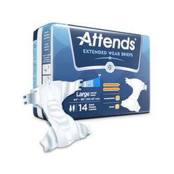 Attends Extended Wear Adult Diapers (Briefs)