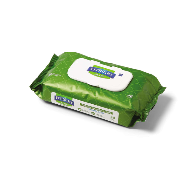 FitRight Aloe Quilted Fragrance-Free Wipes Refill Soft Packs