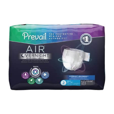 Prevail Air Overnight Adult Diapers (Tabbed Briefs)