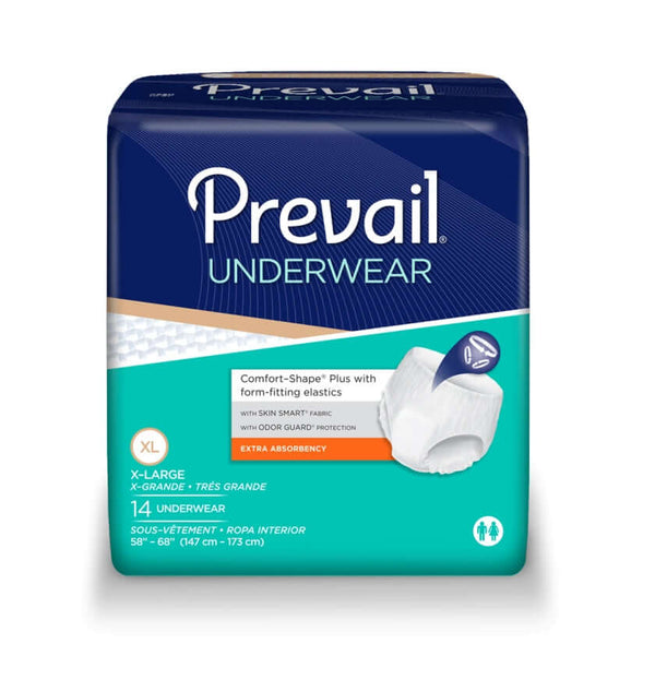 Prevail Protective Underwear (Pullups) Extra Absorbency, XL, 56 per case, Shipping Included