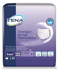 Tena Overnight Super Protective Underwear (Pullups),XLarge, 48/Case, Shipping Included