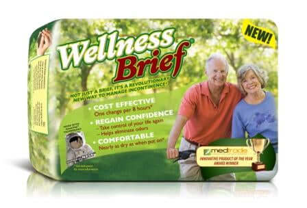 Wellness Adult Diapers, Large, 60 per case, Shipping Included