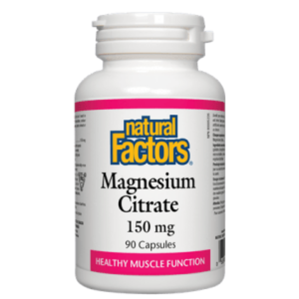 Citrate de magnésium - 150 mg Natural Factors (90 ou 180 comprimés)