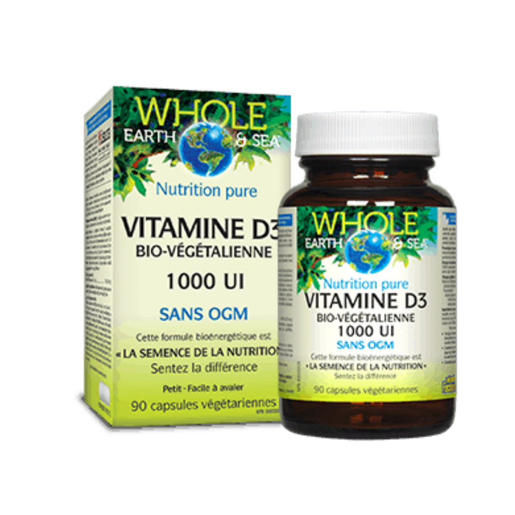Vitamine D3 -1000 UI Whole Earth & Sea (90 capsules)