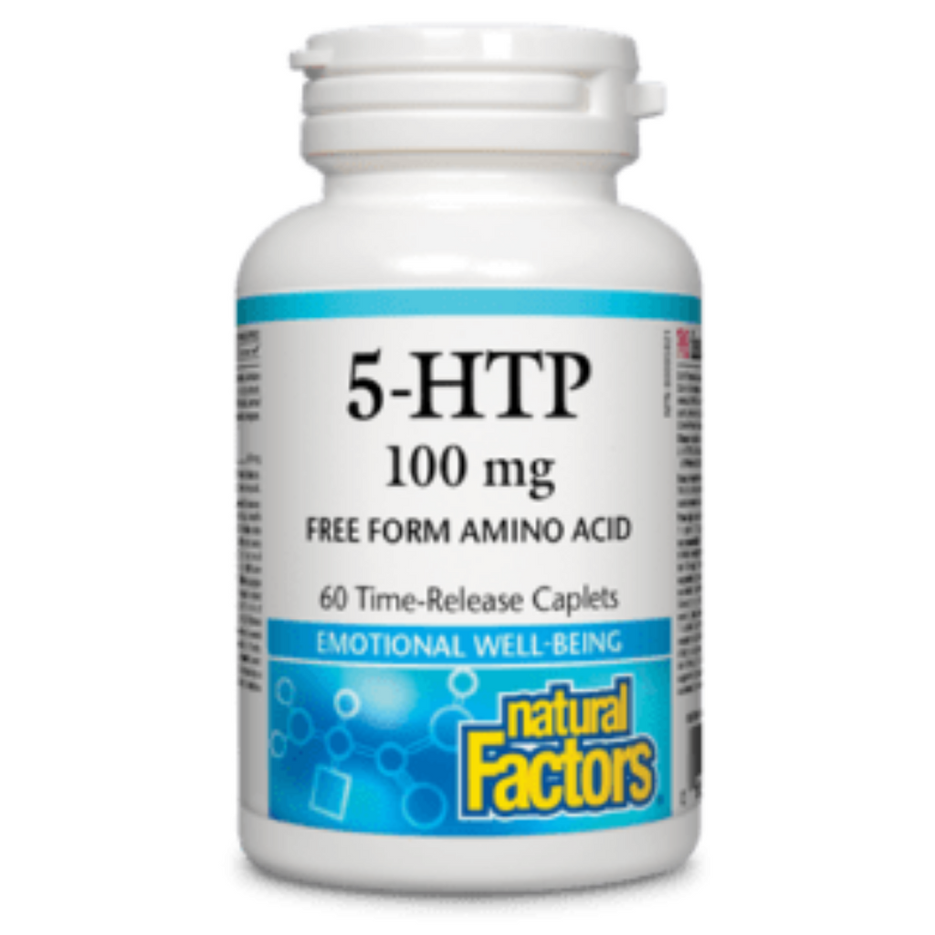 5-HTP - 50 mg ou 100mg Natural Factors (60 comprimés)