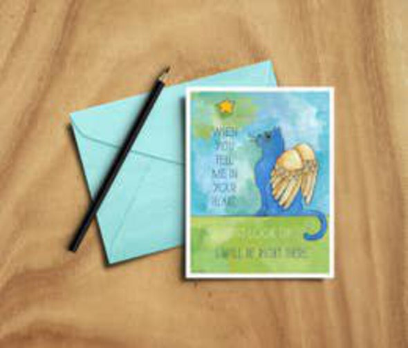 cat star sympathy card
