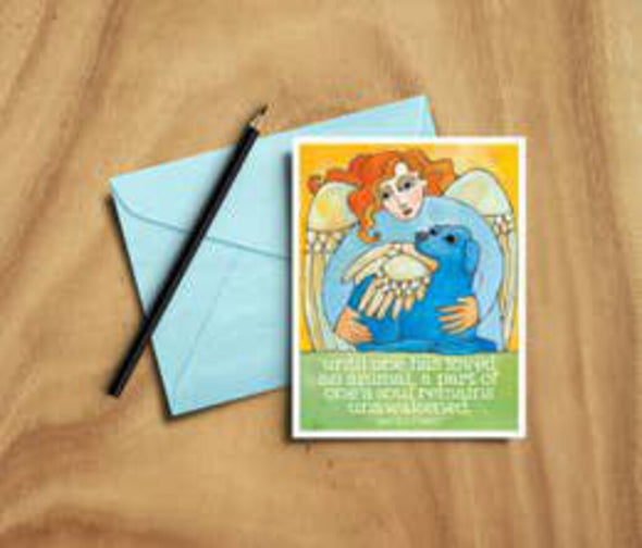 dog angel sympathy card