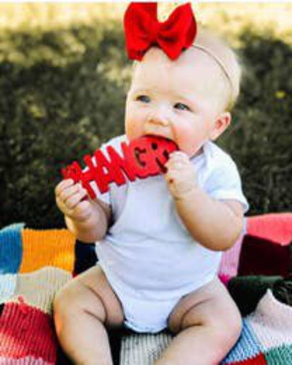NEW teether hangry red
