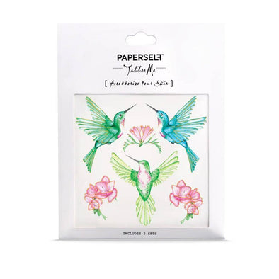 paperself tattoo me hummingbirds temporary NEW