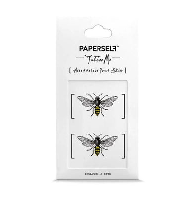 paperself tattoo me bees NEW temporary