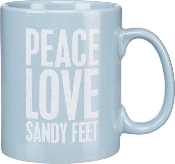 NEW sandy feet mug