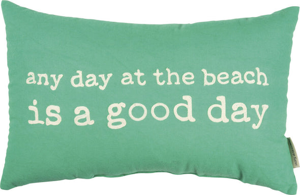 NEW green beach pillow