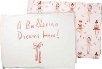 NEW pillowcase set/2 ballerina