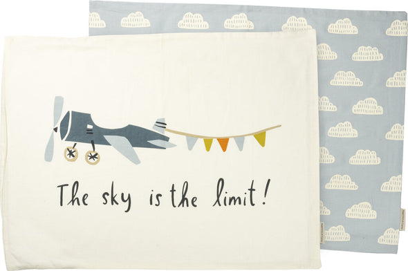 NEW pillowcase set/2 plane