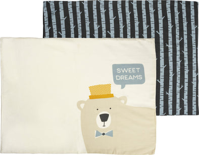 pillowcase set/2 NEW bear