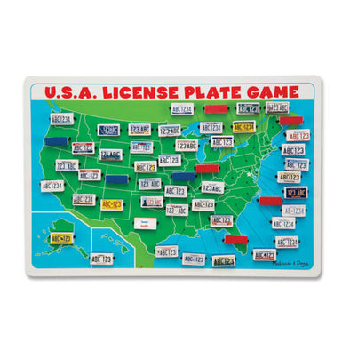 USA license plate game NEW M&D