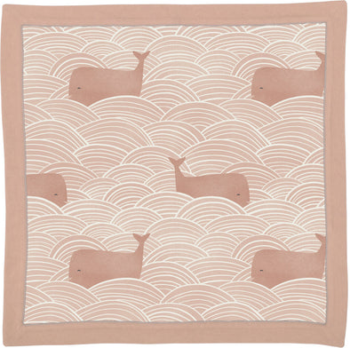 whale pink blanket NEW 16x16