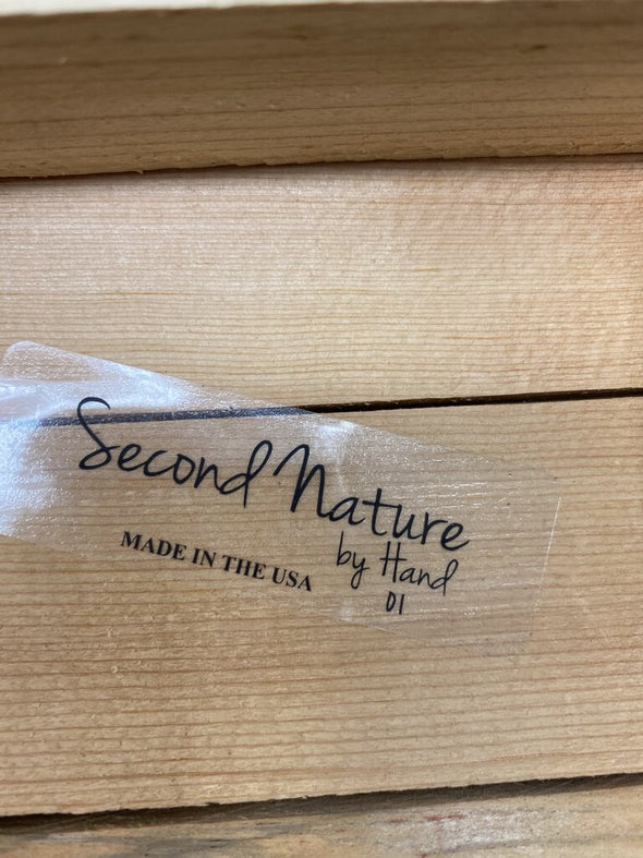second nature by hand box sign 6x6 NEW