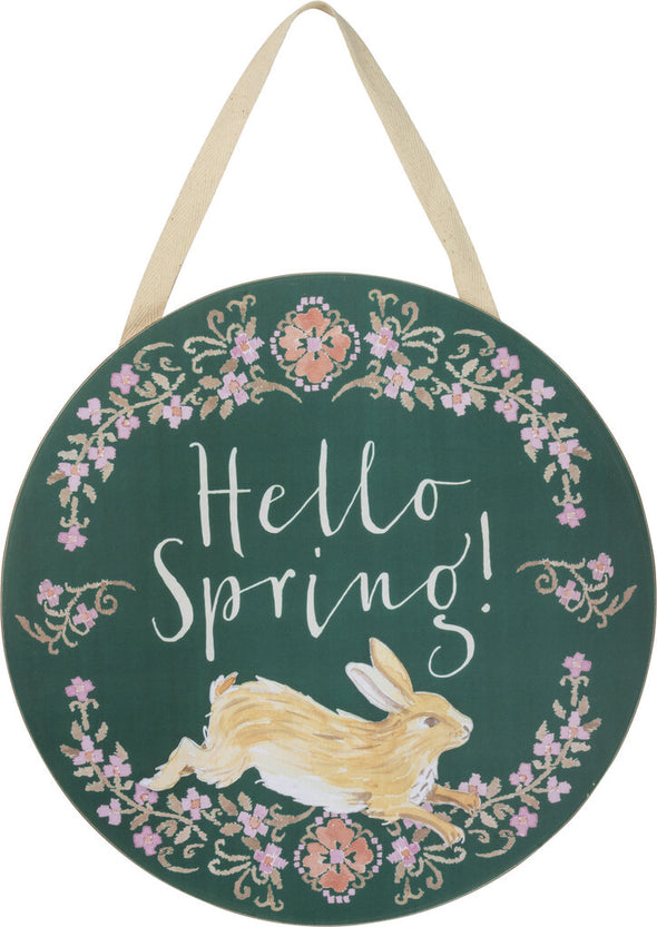 NEW hello spring wreath